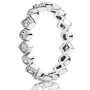 Pandora Shining Square Eternity Ring Size 7